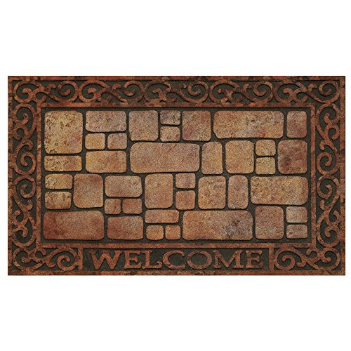 Achim Home Furnishings RRM1830PV6 Paver Scrolls Raised Rubber Door Mat, 18 by 30
