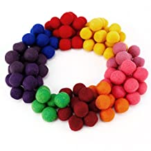 Surepromise 100% Wool Felt Balls - 2cm - Handmade - 100 Count - Assorted / Mixed Colours Pack of 100