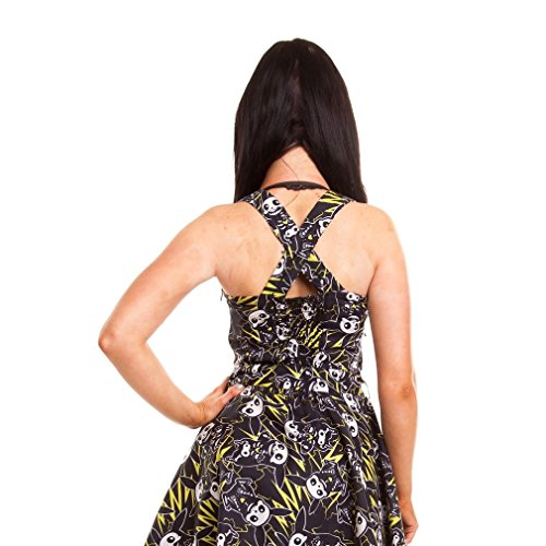 Neckholder Kleid Minikleid Cult Damen Cupcake Thunder Schwarz Zip nxBCpWp
