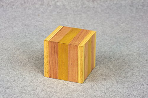 Wooden Box - Handmade Unique Decorative Wooden Box - Trinket or Hidden Storage Box - Mitered Edges on Lid Form a Compact Cubed Box - Home Accent Piece