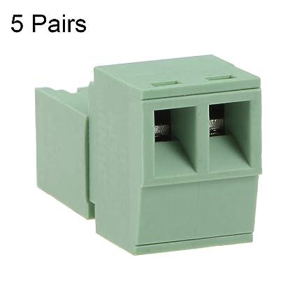 5 Pairs 3.5mm-2P Carte de Source Pitch Pluggable terminal Block connecteur m/âle et femelle pour PCB