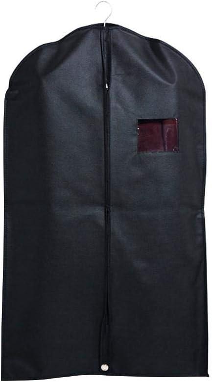 su-luoyu Nichtgewebte Anzugtasche Reisetasche Kleidersack Aufbewahrungstaschen Mottenschutz Anzugabdeckung Mit Gro/ßer Rei/ßverschluss/öffnung 60 100cm Schwarz