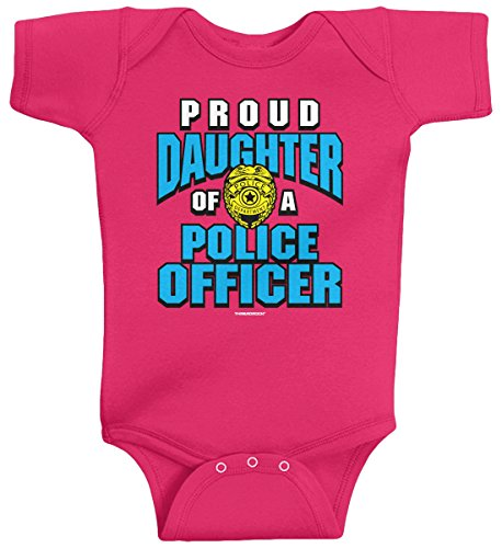 Threadrock Baby Girls' Proud Daughter of a Police Officer Infant Bodysuit 12M Hot -