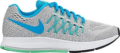 Nike Zoom Pegasus 32 (Gs), Zapatillas de Running para Niñas Plateado / Azul / Gris (Pure Platinum / Bl Lagoon-Cl Gry)