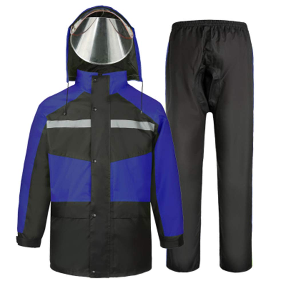 AINUO Pioggia Impermeabile Pantaloni Tuta Maschio Adulto Estate Divisa da asporto Sezione Sottile Moto elettrica Equitazione Impermeabile Impermeabile Completo del Corpo Vestiti da pioggia