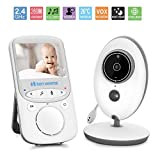 """Baby Monitor, GooDee 2.4"""" Video Baby Monitor with Night vision, Two way talk, Temperature Monitoring & Built-in Lullabies-Upgraded GooDee"""