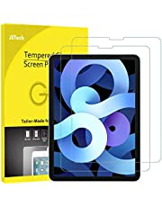 JETech Folia Ochraniacz Ekranu Kompatybilne z iPad Air 4 10,9 cala, iPada Pro 11 cali Wszystkie modele, Kompatybilny z Face ID, Folia ze Szkła Hartowanego, 2 sztuki