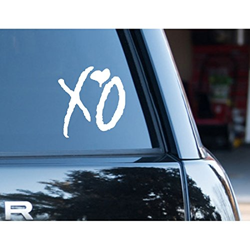 Amazon com the weeknd xo two pack vinyl sticker car truck window laptop macbook wall art arts crafts sewing