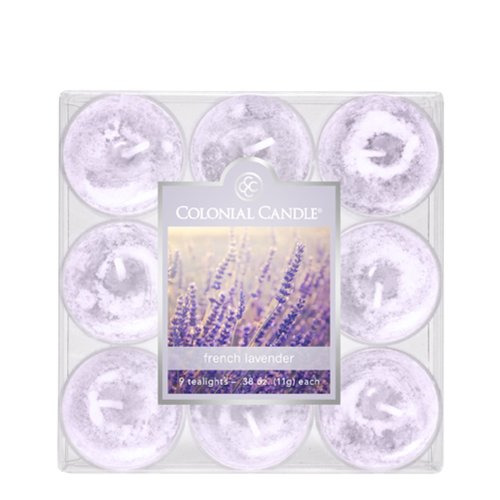 Tealights Colonial Candle (Colonial Candle French Lavender Tealights, Set of 9)