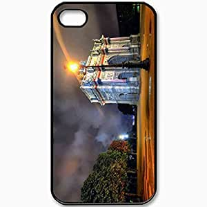 Protective Case Back Cover For iPhone 4 4S Case Night Paris Black