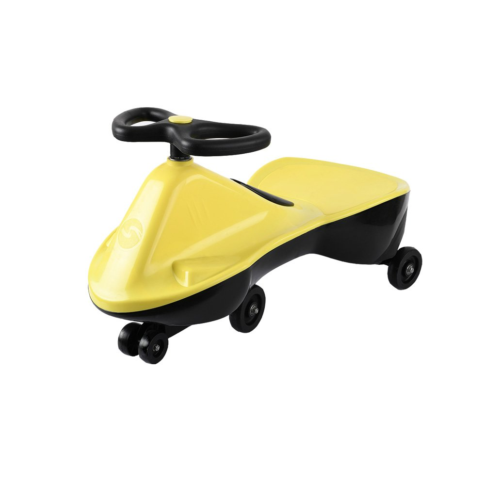 Needit Findit Ride On Toy for Boys and Girls, No batteries, gear, turn, Wiggle Twist Toy for Kids Gift (Yellow)