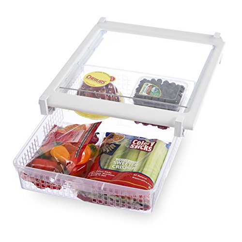 Refrigerator Freezer Drawers (PRO-MART SMART DESIGN Refrigerator Pull Out Bin and Home Organizer, Extra Large)