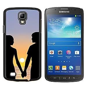 YiPhone /// Prima de resorte delgada de la cubierta del caso de Shell Armor - Puesta de sol Pareja Pareja - Samsung Galaxy S4 Active i9295