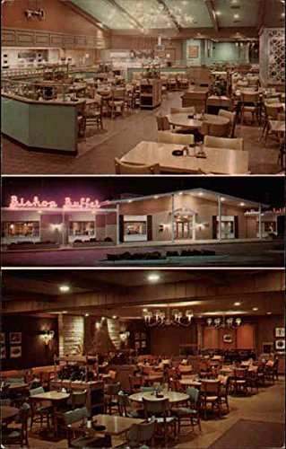 The Bishop Buffet, Duck Creek Plaza Bettendorf, Iowa Original Vintage - Buffet Creek