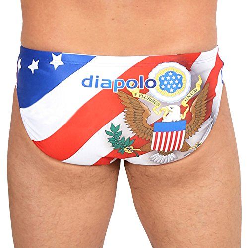 c680ee12bd359 DIAPOLO USA Patriot 6 Men s Swimsuit Swimming Water Polo (XL)