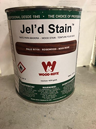 WOOD KOTE PRODUCTS INC 227-4 QT ROSEWOOD JEL FT. D STAIN - Rosewood Gel Stain