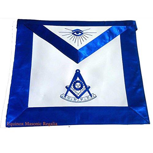 Masonic Apron Past Master York Rite Masons Silky Royal Blue Satin (Masonic Past Master Apron)
