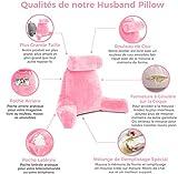 Husband Pillow - Pink, Big Backrest Reading Bed