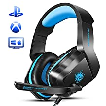 Wired Gaming Headset, PHOINIKAS H1 Stereo Gaming Over Ear Headset for PS4, Xbox One, PC, Mac, Headphone with Mic, LED Light, Noise-Cancelling, Bass 5.1 Surround, Gift for Kids (Camo)