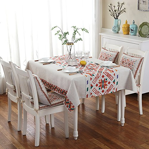 9555 Oil (American Table Cloth Coffee Cloth,Art Of Cotton And Linen Long Round Modern Modern Tablecloth,Table Mat Chair Cushions Cushion Set-G 50x200cm(20x79inch))