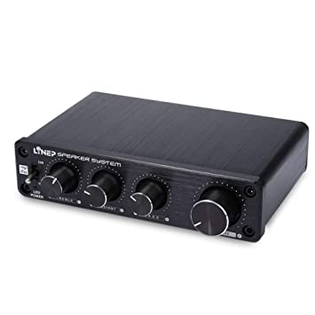 WQGNMJZ Amplificador De Audio Preamplificador De Sonido Independiente De Cuatro Canales De Alto Control De Graves