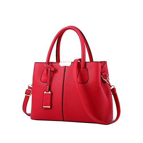 Shoulder For Red Leather Handbags Coolives Wine Designer Ladies Bags Handbags Women Online Pu ZPdBq8