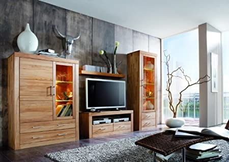 Perfect Wall Unit Solid Core Beech Wall Living Room Lighting: Amazon.co.uk: Kitchen  U0026 Home