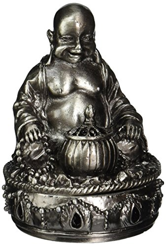 StealStreet New Buddha Collectible Pewter Cone Incense Burner, Aromatherapy - incensecentral.us