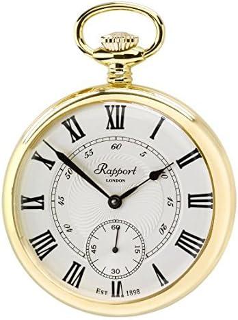 [ラポート]RAPPORT 懐中時計 蓋なし ゴールドカラー 手巻き式 PW22 【正規輸入品】