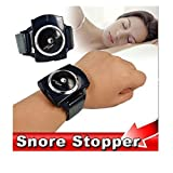 DASHUHUWAI Snore Stopper Intelligent Wrist Anti Snoring Cessation Sleeping Aids(black)