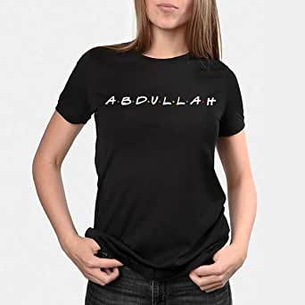 kharbashat abdullah T-Shirt for Women, Size XXL, Black