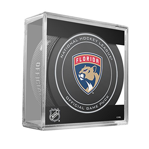 fan products of Florida Panthers Sherwood Official NHL Game Puck in Cube
