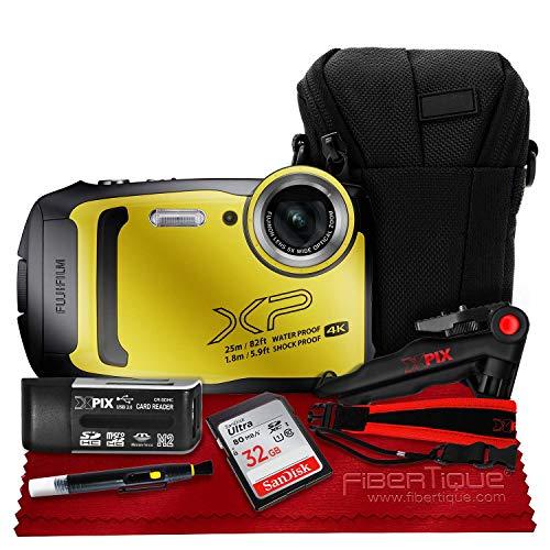 Fujifilm FinePix XP140 Digital Camera (Yellow) XP140 + 32GB + Case + Strap + Accessories Bundle
