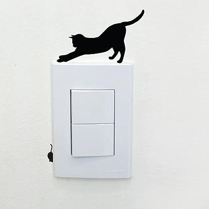JiaMeng Pared de la habitación Que adorna el Interruptor del Interruptor Etiqueta engomada del Vinilo Decoración