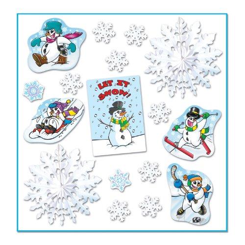 Let It Snow Decorama Party Accessory (1 count) (17/Pkg) ()