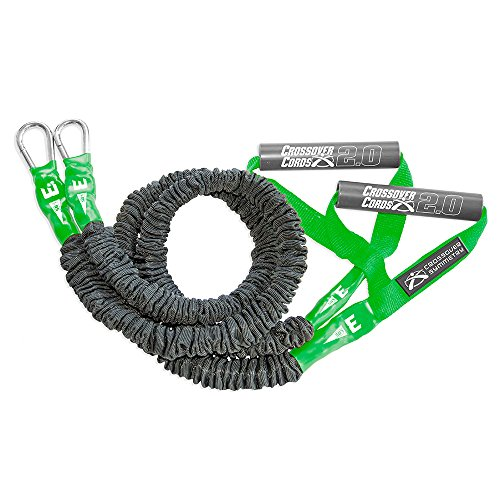 Crossover Symmetry Super Light 3 lbs Shoulder Resistance/Exercise Bands - Perfect for Warmups, Arm Care, Rotator Cuff Exercise or Physical Rehab from Injury - One Set of 2 Crossover Cords (Three Best Shoulder Exercises)