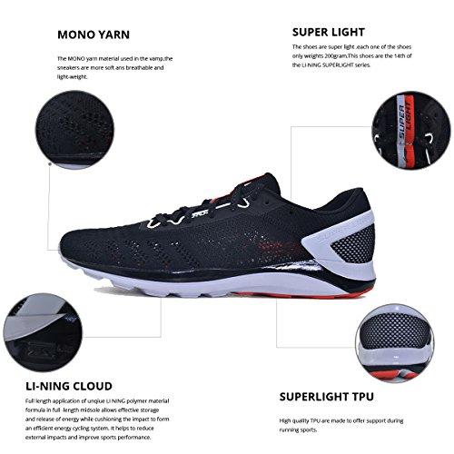 Scarpe Da Ginnastica Da Uomo Super Light Xiv Ammortizzazione Dmx Sneakers Nero / Rosso