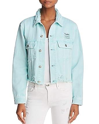 de1e9078f5ed8 Sunset & Spring Distressed Cropped Denim Jacket at Amazon Women's Coats Shop