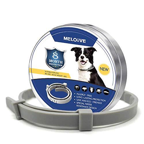 🥇 Meloive Collar Anti Pulgas y Garrapatas para Perros