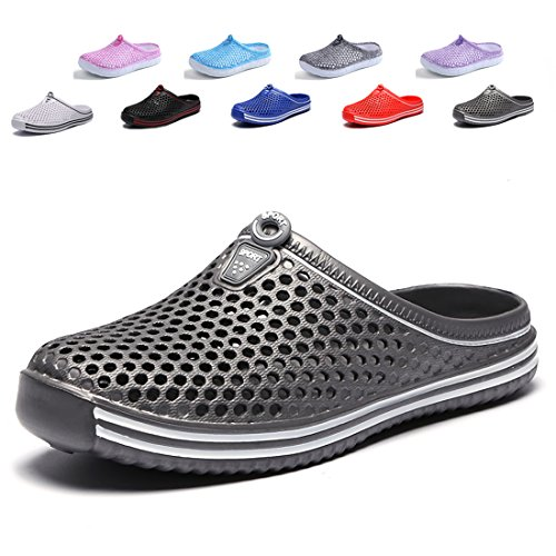 Peregrine Mesh Breathable Sandal Quick-Drying Slippers Beach Slippers Non-Slip Garden Sandals Clogs Mules Shoes Dark Gray