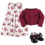 Hudson Baby Girls' Cotton Dress, Cardigan and Shoe