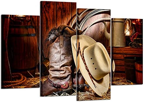 picture of Kreative Arts » 4 Pieces Canvas Prints Wall Art American West