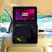 TFY Car Headrest Mount for Portable DVD Player, Kids Security Hands-Free Headrest Travel Bracket Stand for Road Trip - Provide Entertainment for Kids and Back Seat Passengers -9 Inch