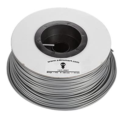 SainSmart 3mm imported ABS Filament 1kg/2.2lb for 3D Printers Reprap, MakerBot Replicator 2, Printrbot LC, MakerGear M2 and UP!(Afinia H-Series) (Silver)
