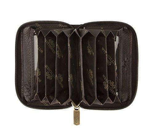 WITTCHEN caso, Marrone Scuro, Dimensione: 7x10 cm - Materiale: Pelle di grano - 21-2-218-4