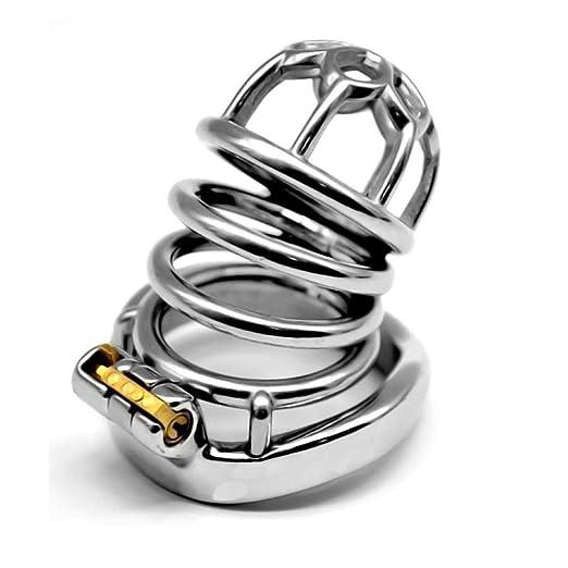 Dispositivo de castidad, Jaula de castidad de acero inoxidable ...