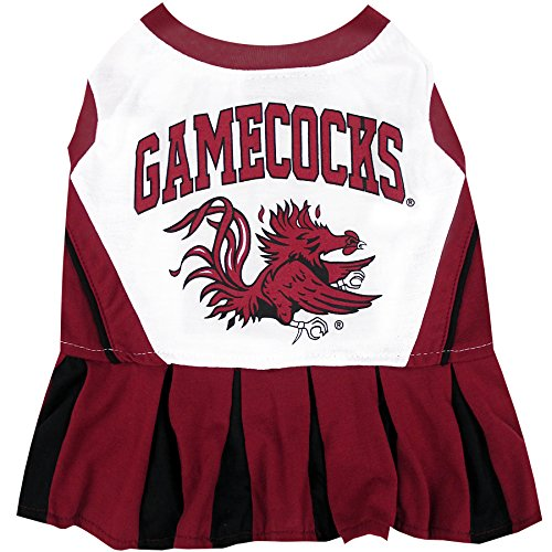 NCAA South Carolina Gamecocks Dog Cheerleader Outfit, Medium]()