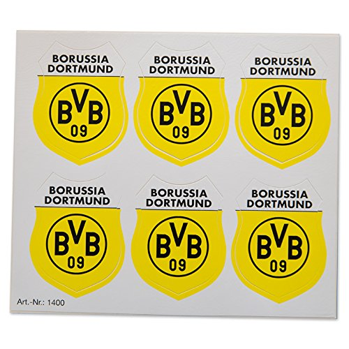 Dispo BVB Aufkleberkarte Wappen 6tlg
