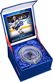 Connor McDavid Edmonton Oilers NHL Debut Crystal Puck - Filled with Ice from NHL Debut - Other Game Used NHL I