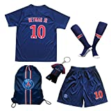 LES TRICOT 2018/2019 Paris Home #10 NEYMAR JR. Football Futbol Soccer Kids Jersey Shorts Socks Set Youth Sizes (13-14 YEARS)